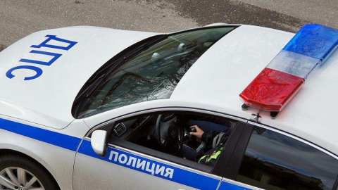 Автомобиль ГИБДД столкнулся с машиной «Яндекс.Такси»