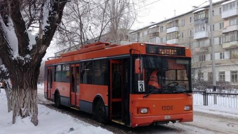 Движение троллейбуса №3 прерывалось из-за пожара на улице Мичурина