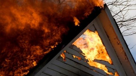 В огне погибли двое мужчин