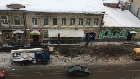 На улице Вольской  губят остатки деревьев