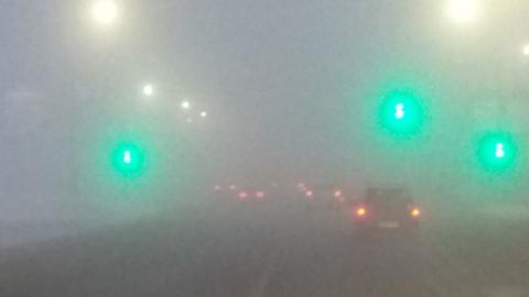 ГИБДД предупреждает о тумане и призывает к осторожности