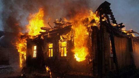 На пожаре погибла женщина