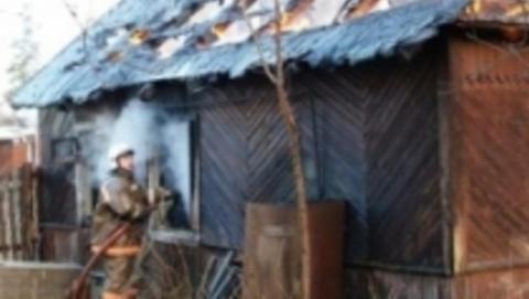 Сгорел большой частный дом