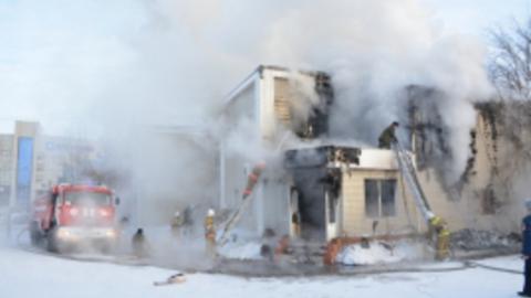 Локомотивное депо тушили больше пяти часов