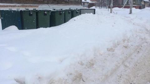 Созданы спецбригады по зачистке заваленных снегом контейнерных площадок
