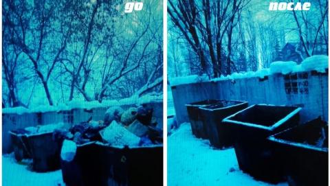 Регоператор: Мусоровывозящие компании в Саратове за сутки зачистили 60 заблокированных снегом площадок