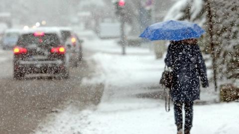 Сегодня ожидается снегопад, метель и гололед