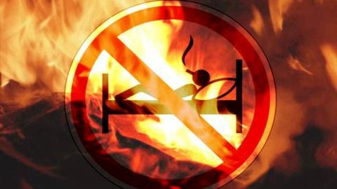 Неосторожный курильщик сгорел вместе с квартирой
