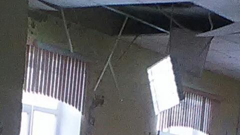 В саратовской школе обвалился потолок
