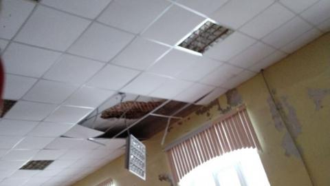 В школе рухнул потолок. Прокуратура начала проверку