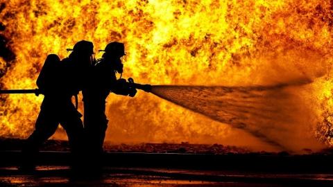 Ночью на «Газпроммаше» вспыхнул пожар