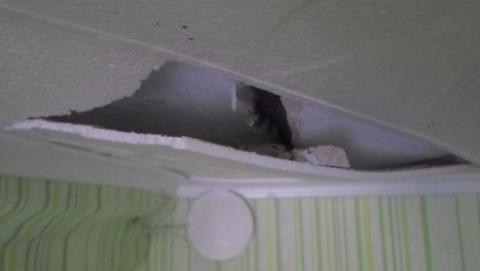 В центре Саратова обвалился потолок квартиры