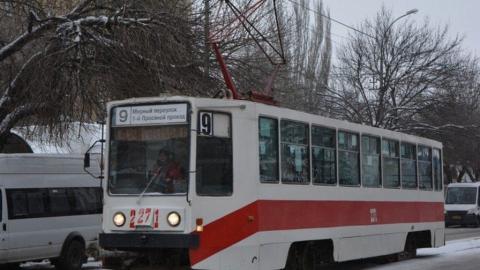 В Саратове горел трамвай