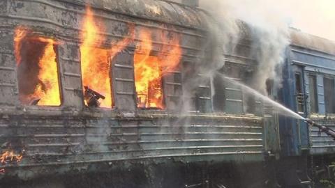 На запасных путях сгорел вагон хлопка