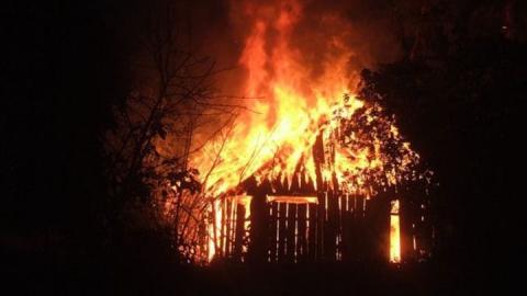 Выгорел огромный сарай