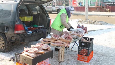 Женщину поймали на уличной торговле мясом