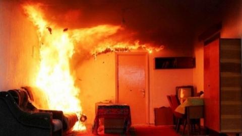 На пожаре погиб молодой человек, его мать - в реанимации
