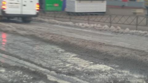Автобус № 4 из-за льда на дороге не доезжает до конечной