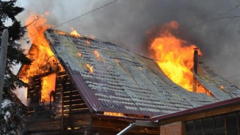 На пожаре погибла 88-летняя женщина
