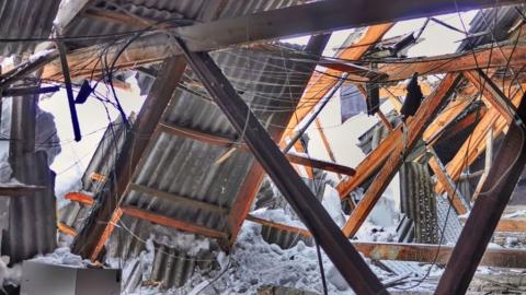 В Энгельсском районе обрушилась крыша детсада