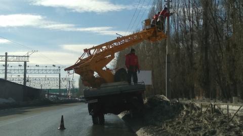 На Новоастраханском шоссе оборвались электропровода