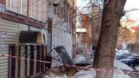 Спасатели: рухнувший дом на улице Мичурина был расселен