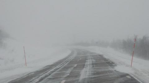 Из-за метели закрыта граница с Казахстаном