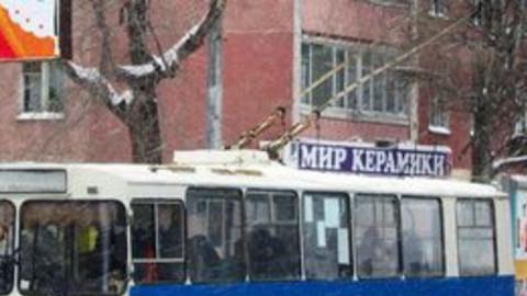 Женщина упала в троллейбусе