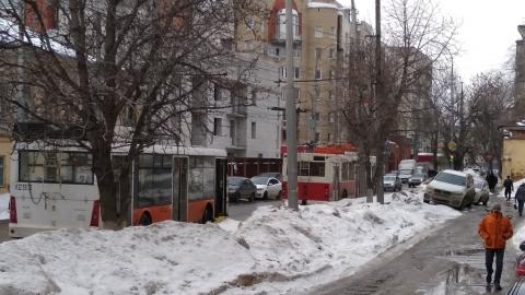 На улице Чернышевского сломался троллейбус