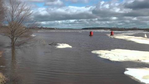 Лед на саратовских реках уже легко проламывается