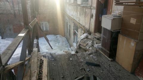 В доме-памятнике культурного наследия обрушилась веранда