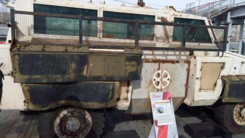 В Саратове показали захваченную российскими войсками сирийскую бронетехнику