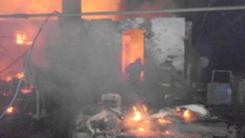 Ночью выгорела квартира в доме
