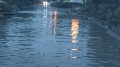 Паводок 2019. Затоплена дорога к детскому саду