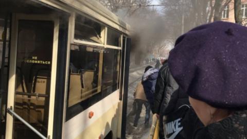 Горевший сегодня трамвай №3 восстановлению не подлежит
