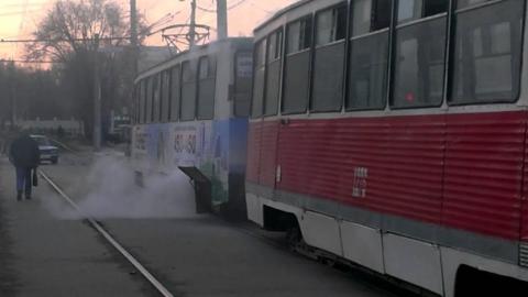 В Саратове снова горел трамвай