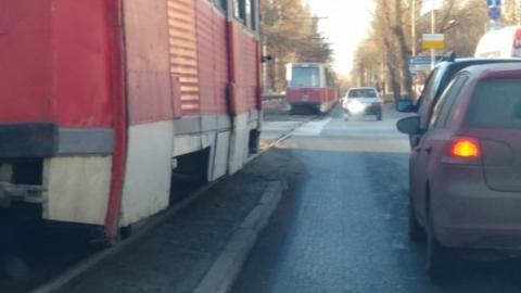 На Московской обесточены трамвайные провода