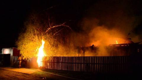 Ночью на пожаре погибла женщина