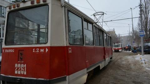 Трамваи №9 и 10 почти час стояли из-за аварии около драмтеатра
