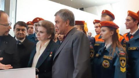 Валентина Терешкова осмотрела строящийся в Саратове аэропорт