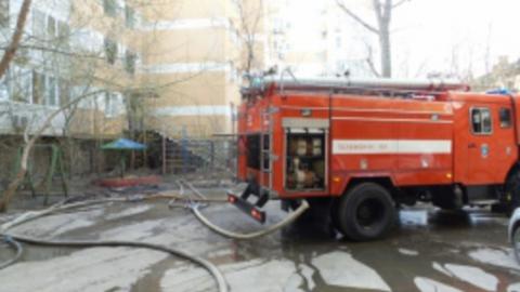 В Саратове горела недостроенная гостиница