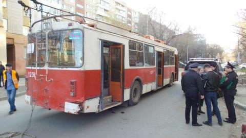 В центре Саратова взорвался троллейбус