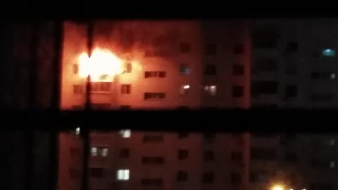 В Балакове ночью горела квартира