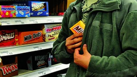 """Полицейские задержали """"шоколадного грабителя"""""""