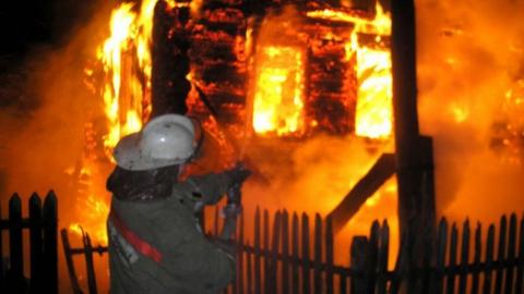 Ночью горел жилой дом