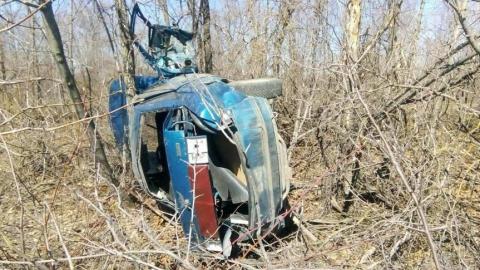 Женщина-водитель вылетела с дороги и перевернулась