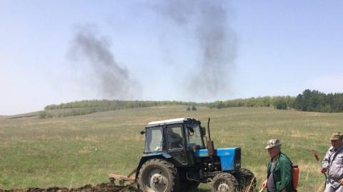 В Татищевском районе выгорело два гектара травы