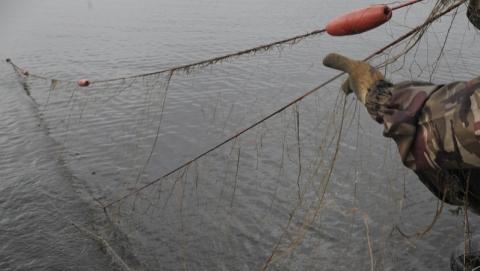 За утро в Саратовской области поймали четырех рыбаков с сетями