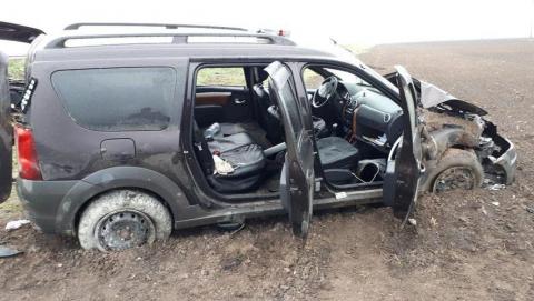 В улетевшей в кювет «Ладе» ранены пять человек