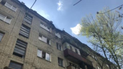 В пятиэтажке рухнула часть стены
